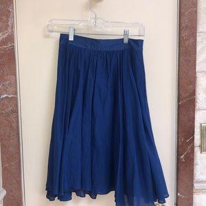 Navy airy skirt